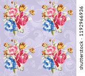seamless floral pattern with... | Shutterstock .eps vector #1192966936