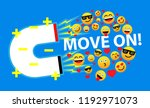 move on  beautiful greeting... | Shutterstock .eps vector #1192971073