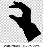 silhouette hand holding ... | Shutterstock .eps vector #1192972096