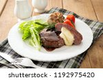 cooking cheese on a plate | Shutterstock . vector #1192975420