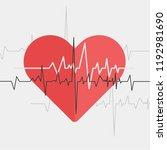 heart line. red heartbeat | Shutterstock .eps vector #1192981690