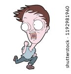 scared man scaping | Shutterstock .eps vector #1192981960