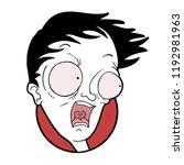 scared man illustration | Shutterstock .eps vector #1192981963