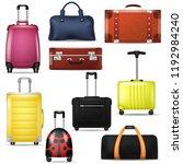 travel bag vector realistic... | Shutterstock .eps vector #1192984240