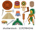 aztec vector mexican ancient... | Shutterstock .eps vector #1192984246