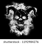 demon with horns and geometric... | Shutterstock . vector #1192984276