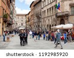 perugia  italy  may 12  2013 ... | Shutterstock . vector #1192985920