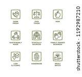 vector set of design elements ... | Shutterstock .eps vector #1192987210