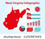 west virginia state  usa  map...   Shutterstock .eps vector #1192987693