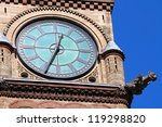 Stock photo city hall tower clock toronto on 119298820