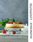 cheesecake new york with fresh... | Shutterstock . vector #1192993750