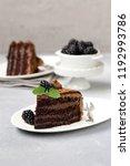 super chocolate truffle cake... | Shutterstock . vector #1192993786