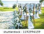 Chair decorated with flowers in ...