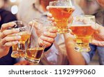 a group of alcohol and beer... | Shutterstock . vector #1192999060