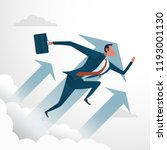 business concept businessman... | Shutterstock .eps vector #1193001130
