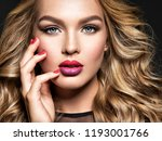 blond woman with long curly... | Shutterstock . vector #1193001766