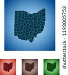 map of ohio | Shutterstock .eps vector #1193005753