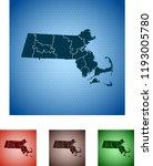 map of massachusetts | Shutterstock .eps vector #1193005780