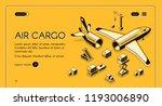 air cargo logistics and freight ... | Shutterstock .eps vector #1193006890