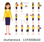business woman character in job. | Shutterstock .eps vector #1193008630