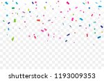 colorful confetti star on... | Shutterstock .eps vector #1193009353