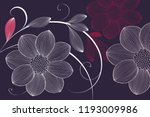 flower background with flowers... | Shutterstock .eps vector #1193009986