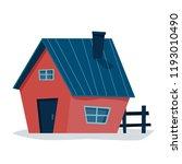 cottage house. flat cartoon...   Shutterstock .eps vector #1193010490