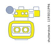 3d movie camera icon. thin line ... | Shutterstock .eps vector #1193011996