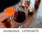 out of focus  a glass wine ... | Shutterstock . vector #1193016370