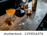 out of focus  a glass wine ... | Shutterstock . vector #1193016376