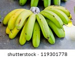 bananas at market  thailand. | Shutterstock . vector #119301778