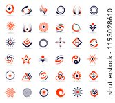 design elements set. abstract... | Shutterstock .eps vector #1193028610