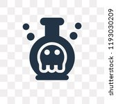 poison vector icon isolated on... | Shutterstock .eps vector #1193030209