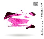 pink brush stroke and texture.... | Shutterstock .eps vector #1193032789
