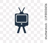 television with antenna vector... | Shutterstock .eps vector #1193033656
