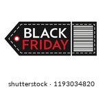 black friday sale. inscription... | Shutterstock .eps vector #1193034820
