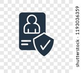 account vector icon isolated on ... | Shutterstock .eps vector #1193036359