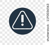 alert vector icon isolated on... | Shutterstock .eps vector #1193036563