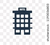 hotel vector icon isolated on... | Shutterstock .eps vector #1193036803