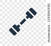 dumbbell vector icon isolated... | Shutterstock .eps vector #1193041930