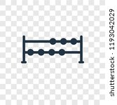 dumbbells vector icon isolated... | Shutterstock .eps vector #1193042029