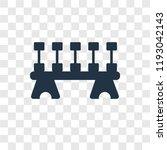 dumbbell vector icon isolated... | Shutterstock .eps vector #1193042143