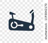 stationary bike vector icon... | Shutterstock .eps vector #1193042170