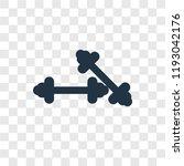 dumbbells vector icon isolated... | Shutterstock .eps vector #1193042176