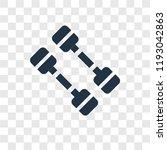 dumbbell vector icon isolated... | Shutterstock .eps vector #1193042863