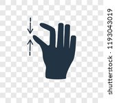 pinch vector icon isolated on... | Shutterstock .eps vector #1193043019
