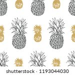 seamless pineapple pattern ... | Shutterstock .eps vector #1193044030