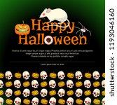 happy halloween poster with big ... | Shutterstock .eps vector #1193046160