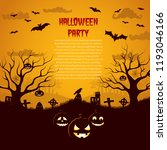 halloween party flyer with... | Shutterstock .eps vector #1193046166