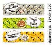 halloween horizontal banners... | Shutterstock .eps vector #1193046220